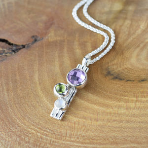 Dewberry Amethyst, Moonstone And Peridot Pendant