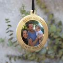 Brass Gold Photo Hanging Tree Bauble Decoration