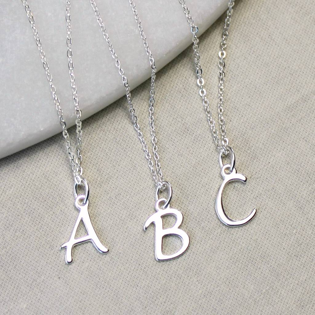 jewelry product chains gold personalized letter necklace bridesmaid disc charm original gift initial
