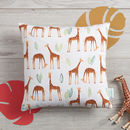 Mini Giraffes cushion