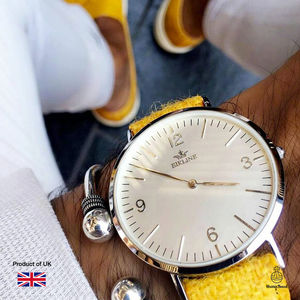 Harris Tweed Yellow Bickley Silver Watch - gifts by category
