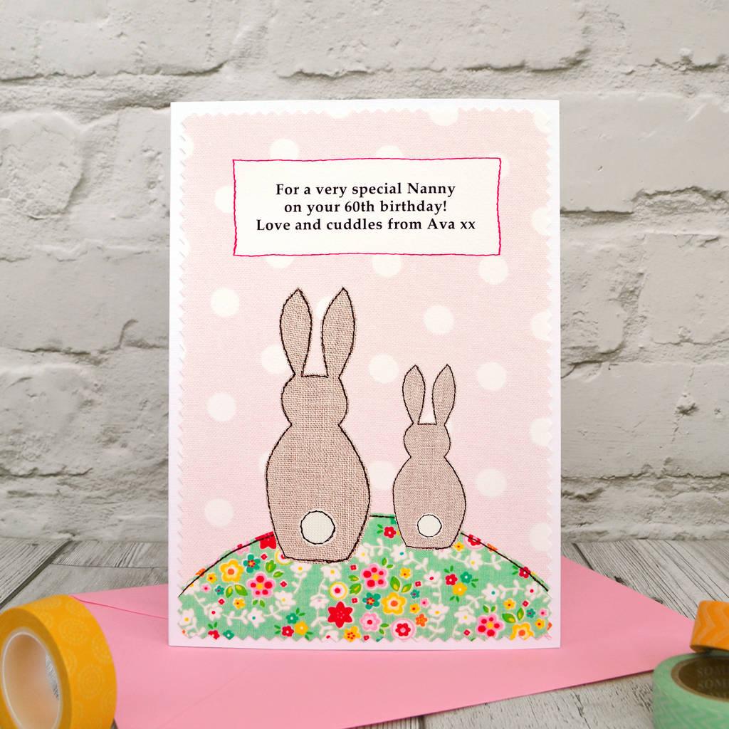 Bunny First Birthday As My Mummy Nana Birthday Card By Jenny