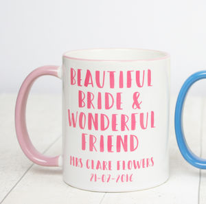 Personalised Bride And Friend Mug - dining room