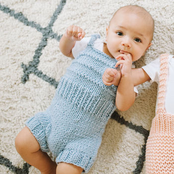 Knit Your Own Baby Playsuit Romper Kit