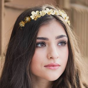 Golden Flower Esme Bridal Headpiece - wedding fashion