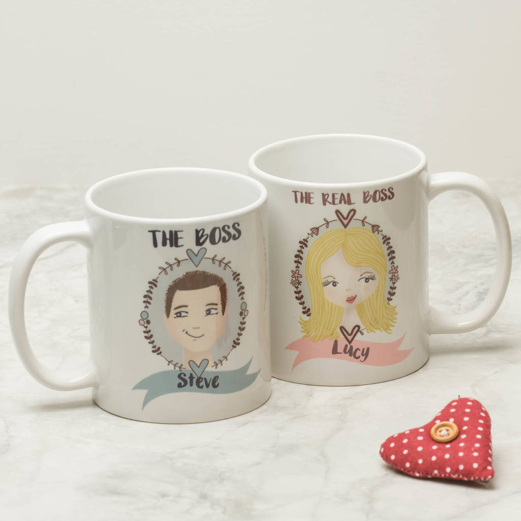Personalised Illustrated Couple Mugs By From Lucy Notonthehighstreet Com