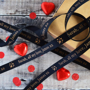 Valentine's Day 15mm Personalised Printed Ribbon - cards & wrap