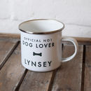Personalised Pet Lover Enamel Mug