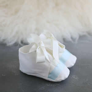 Boys Christening Booties 'Harry'