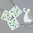 Christmas Gift Tags With ' Sprouts ' Illustration