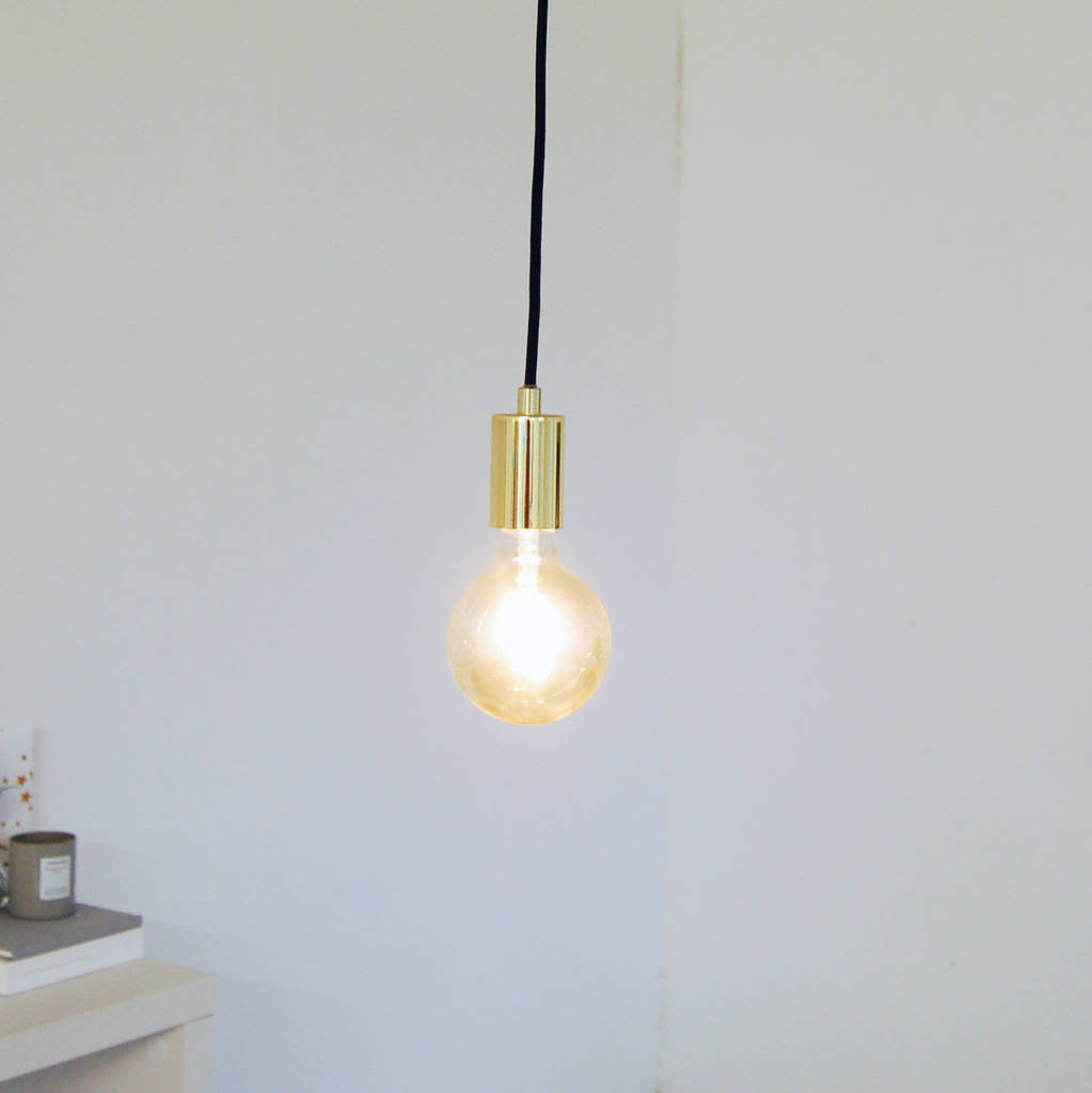 Gold Hanging Pendant Ceiling Light By The Luxe Co