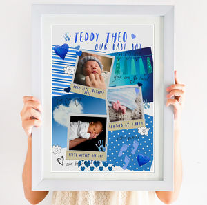 Baby Boy Photo Collage Print