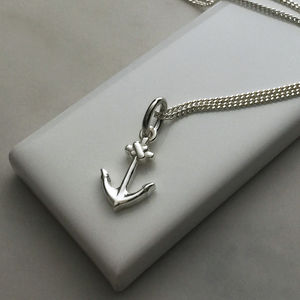 Anchor Necklace In Sterling Silver - necklaces & pendants