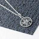 Woven Silver Dream Catcher Sterling Silver Pendant