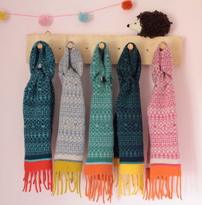Kids Fair Isle Tassel Scarf - children's scarves