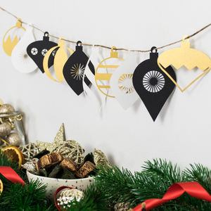Christmas Bauble Paper Garland