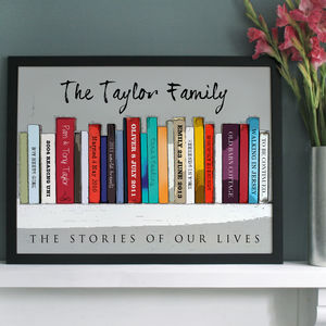 Personalised Book 'Family' Edition - canvas prints & art