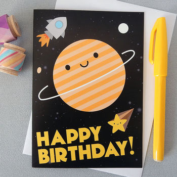 'Happy Birthday' In Space Card
