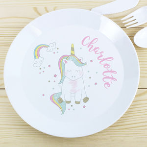 Personalised Baby Unicorn Plate - plates & cutlery