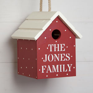 Personalised Spotty Birdhouse - birds & wildlife