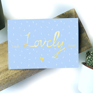 'Such Lovely News' Card