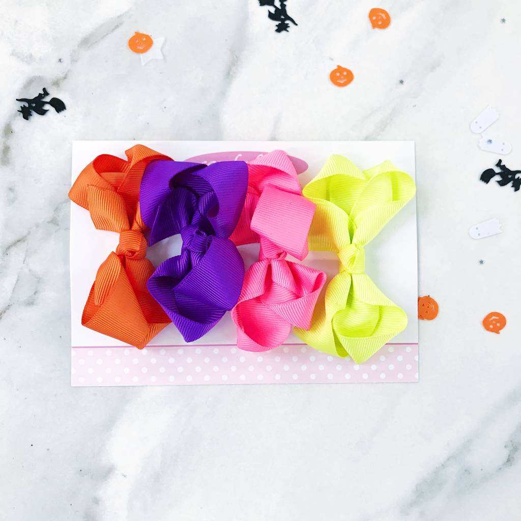 Gift Set Of Four Medium Boutique Bows