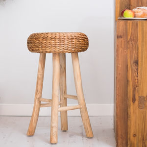 Wooden Bar Stool In Two Styles