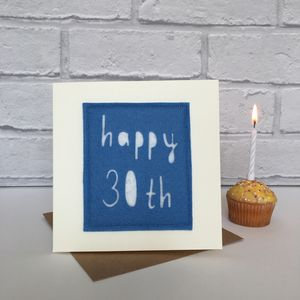 Happy 30th Birthday Milestone Card - birthday cards