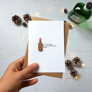 Be Gin Funny Christmas Alcohol Card