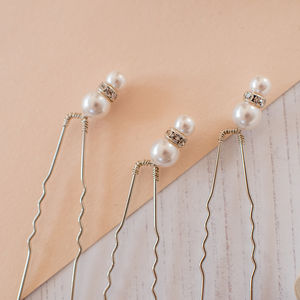 Double Pearl Bridal Pins