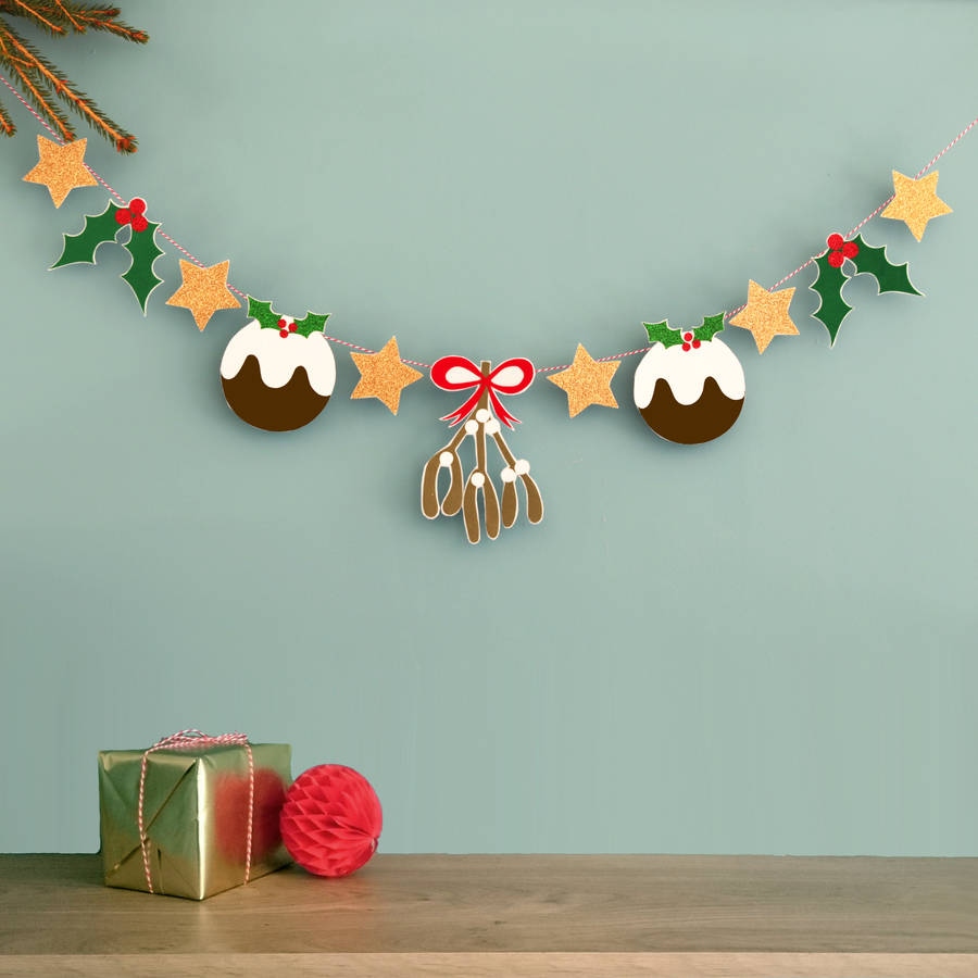 Sparkly Christmas Garland