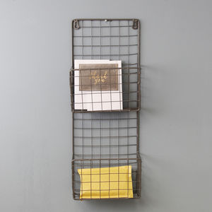 Wire Letter Rack - living room