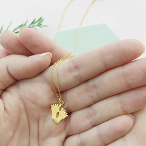 New Baby Personalised Gold Filled Necklace