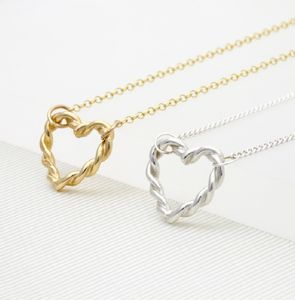 Twisted Heart Necklace - valentine's gifts for her