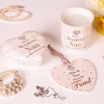 Personalised Wonderful Nan Keepsake Gift Selection