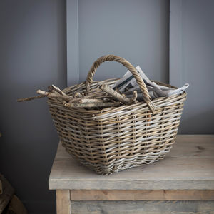 Bembridge Market Basket Rattan - log baskets