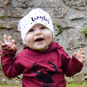 Personalised Dotty Baby Beanie - stocking fillers
