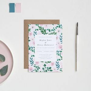 Peony Vine Wedding Invitations