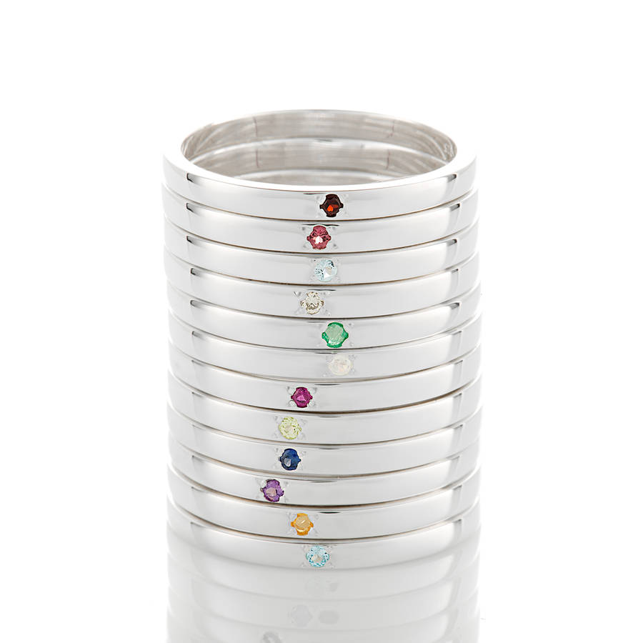pandora birthstone stacking ring en rings estore uk october
