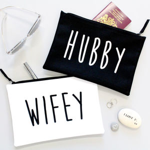 Hubby And Wifey Wedding / Honeymoon Bags - travel wallets