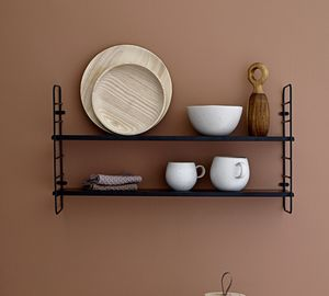 Black Shelves - kitchen