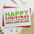 Christmas Card For Amazing Son And Son In Law