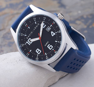 Atlantic Blue Strap Customised David Louis Watch - watches