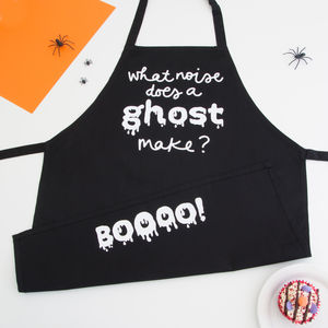 'What Noise Does A Ghost Make' Childrens Apron - kitchen
