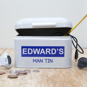 Personalised Man Tin - storage & organising