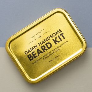 'Damn Handsome' Premium Beard Grooming Kit - gifts sale