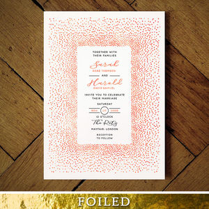 Mimosa Foil Wedding Invitation - wedding stationery