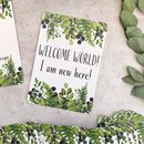 Foliage Design Baby Milestone Cards