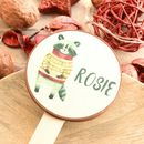 Personalised Racoon Christmas Chocolate Lollipop