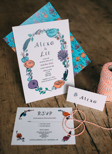 Flora And Fauna Wedding Stationery Collection - invitations